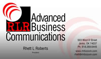 Business Card - RLR Business Communications